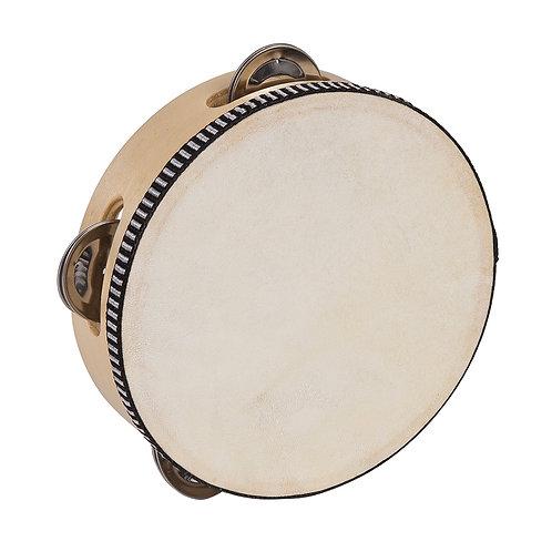 PP World Wooden Tambourine ~ 15cm Natural