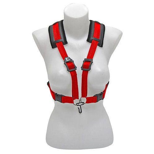 BG Alto, Tenor & Baritone Sax Womens Comfort Harness ~ Red ~ Metal Hook