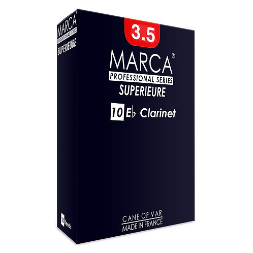 Marca Superieure Reeds - 10 Pack - Eb Clarinet - 3.5