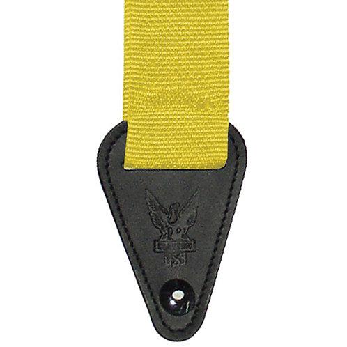 Clayton Inner Lock Guitar Strap - Yellow