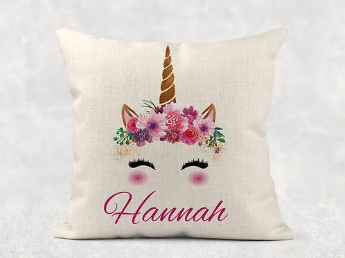Unicorn Name Cushion