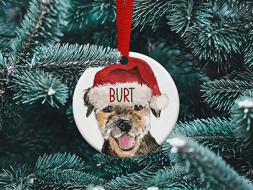 Border Terrier Tree Ornament