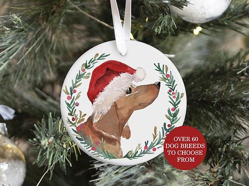 copy of Dog Christmas Tree Ornament