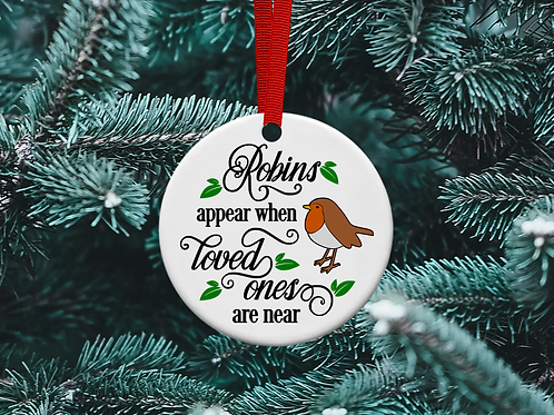 Robins Appear Christmas Tree Ornament