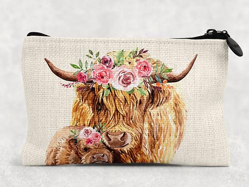Highland Cows Makeup Bag