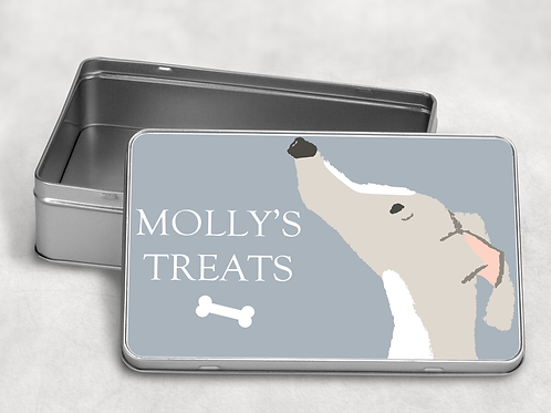 Greyhound Treat Tin