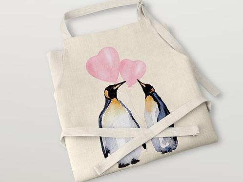 Penguins in love Apron