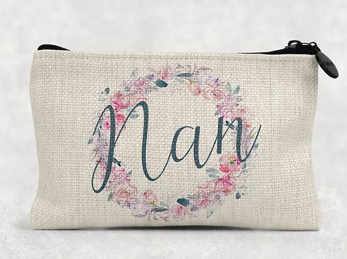 Floral Nan Makeup Bag