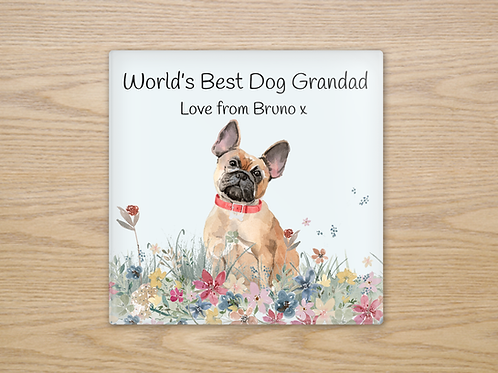 French Bulldog Glass Coaster