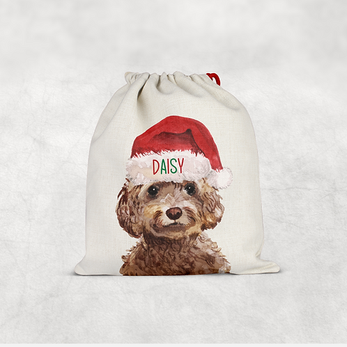 Cockapoo Christmas Sack