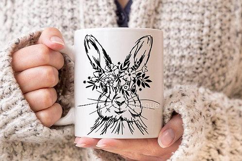 Sketched Hare Mug