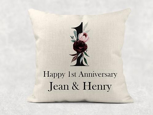 1st Wedding Anniversary Cushion