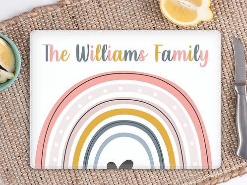 Rainbow family chopping board