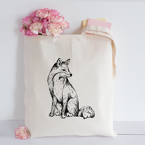 Sketched fox Tote Bag