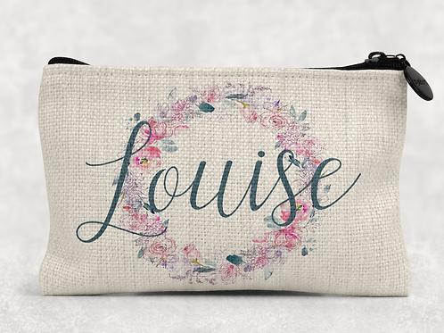 Floral Name Makeup Bag