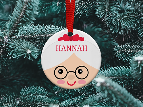 Mrs Claus Christmas Tree Ornament