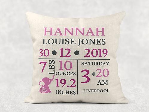 Newborn Girl Cushion