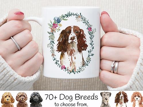 Floral Wreath Dog Mug