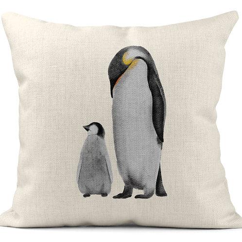Watercolour Penguins Cushion