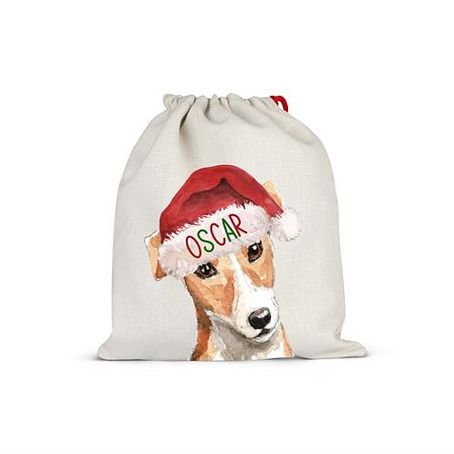Jack Russell Christmas Sack