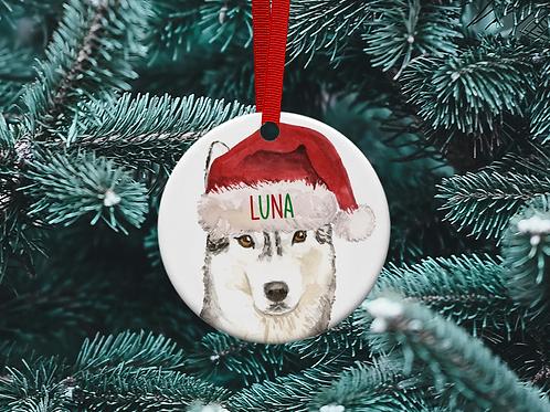 Husky Christmas Tree Ornament