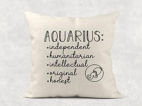 Aquarius Starsign Cushion