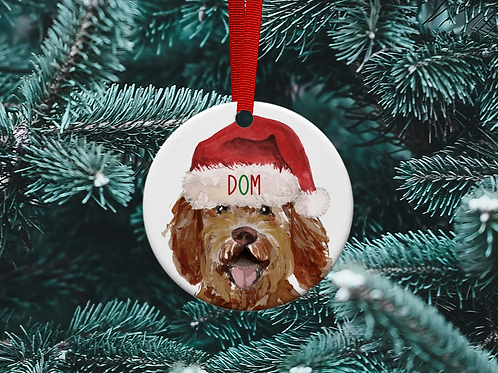 Labradoodle Christmas Tree Ornament