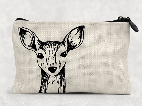 Sketched deer Makeup Bag