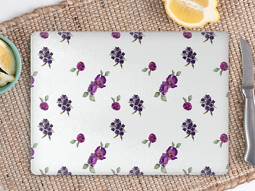 Floral chopping board