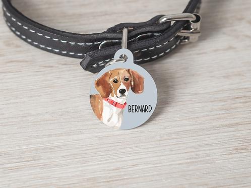 Beagle Dog ID Tag