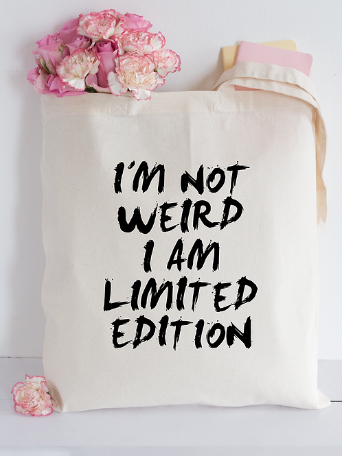 Not weird Tote Bag