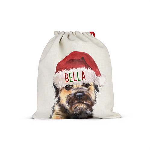 Border Terrier Christmas Sack