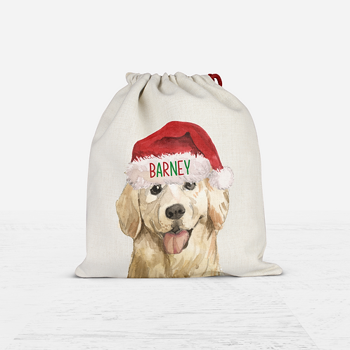 Golden Retriever Christmas Sack