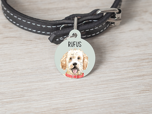 Goldendoodle Dog ID Tag
