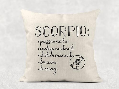 Scorpio Starsign Cushion