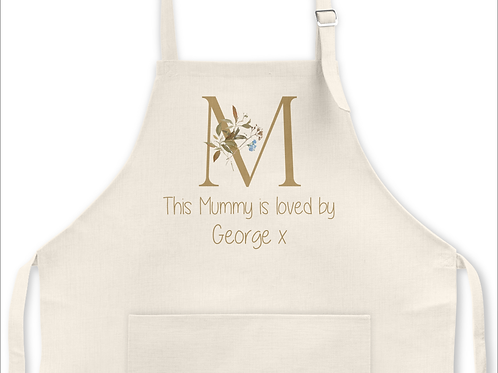 Mummy is loved by.. Apron