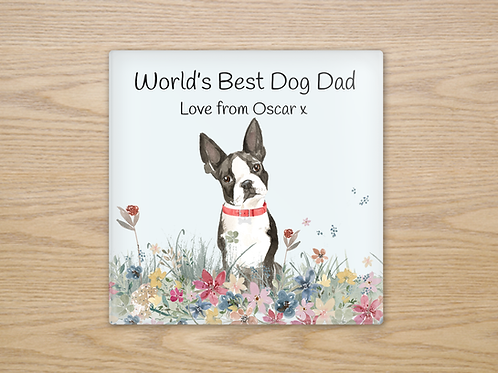 Boston Terrier Glass Coaster