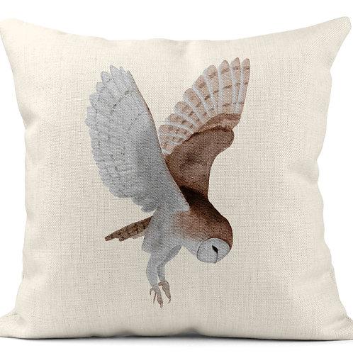 Watercolour Owl Cushion