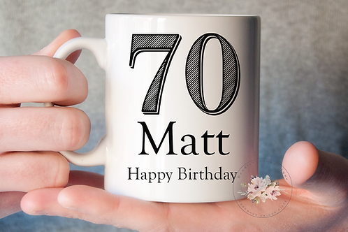 Stripe  Birthday Mug