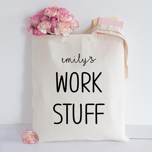 Work stuff Tote Bag