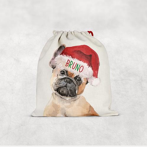 French Bulldog Christmas Sack