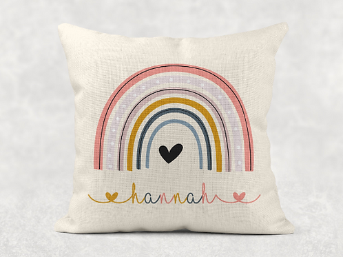 Rainbow Name Cushion