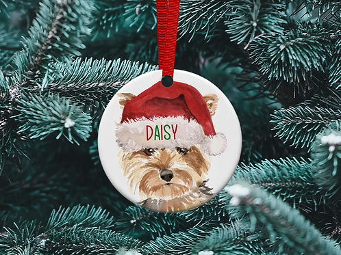 Yorkshire Terrier Christmas Tree Ornament