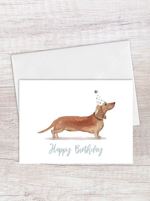 Dachshund Birthday Card