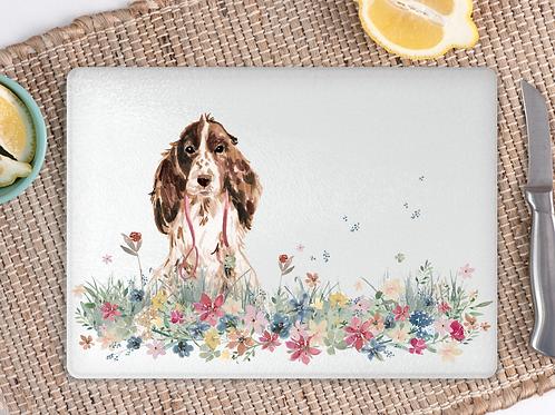 Floral dog chopping board