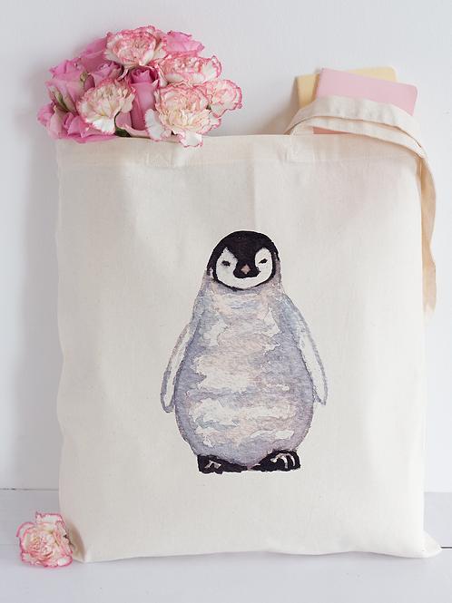 Watercolour penguin Tote Bag