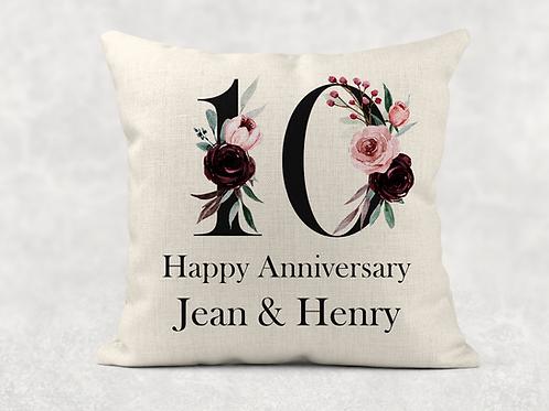 10th Wedding Anniversary Cushion