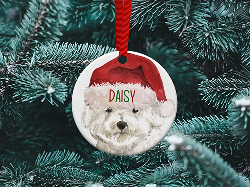 Bichon Frise Christmas Tree Ornament