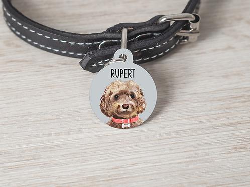 Cockapoo Dog ID Tag