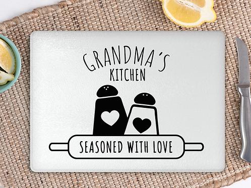 Grandma's kitchen chopping board